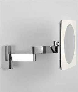 chunky framed square vanity mirror 230mm With adjustable bathroom wall mirrors