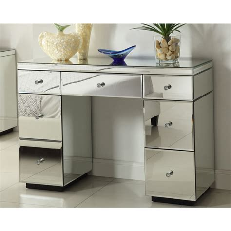 large white wall mirror mirrored dressing table console 7 drawer