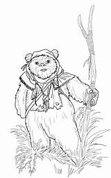 Wars Ewok Coloring Star Pages Jedi Printable Return Colouring Drawings Supercoloring Episode Drawing Starwars Coloriage Print Sheets Chewbacca Information Animals sketch template