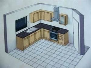 Plan De Cuisine 3d : plan petite cuisine ~ Nature-et-papiers.com Idées de Décoration