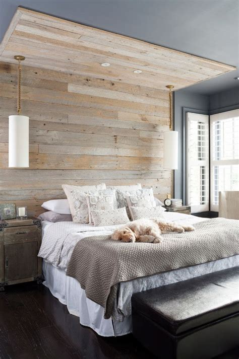 reclaimed wood wall behind a bed could add a rustic touch