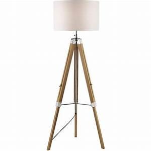 dar lighting easel floor lamp wooden base with ivory shade With ivory wooden floor lamp