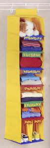 Days Of The Week Closet Organizer For by Days Of The Week Organizer In Closet Organizers