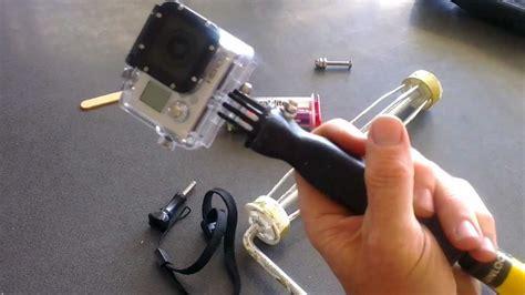 easy budget gopro diy grip handle  pole mount youtube