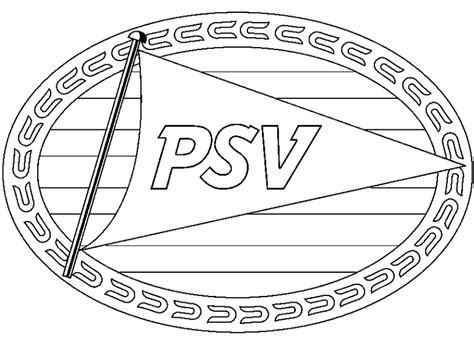 Kleurplaat Logo by Logo Kleurplaten Psv Eindhoven Cakes Kleurplaten