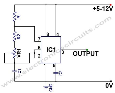 Simple Light Diagram Generator by 555 Variable Frequency Square Wave Generator Oscillator