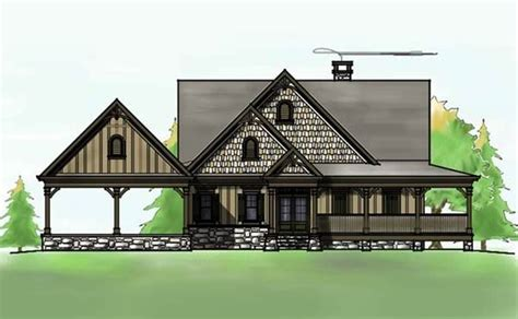 ranch style house plans  basement  wrap