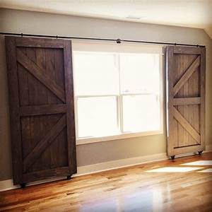 25 best ideas about country window treatments on With barn door to cover sliding glass door