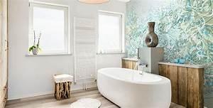 Papier Peint Pour Salle De Bain : le papier peint salle de bain c 39 est possible maison ~ Dailycaller-alerts.com Idées de Décoration