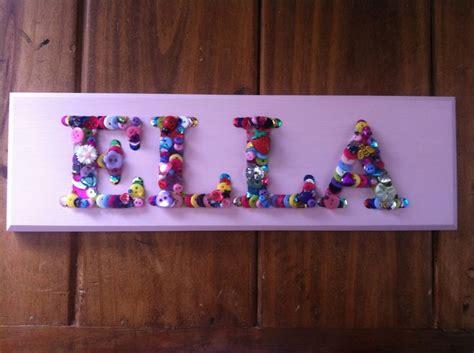 ella  plaque button art    crafts
