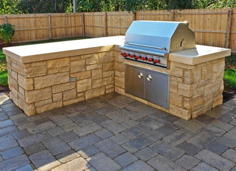 paver brick entrances patio and built in grill