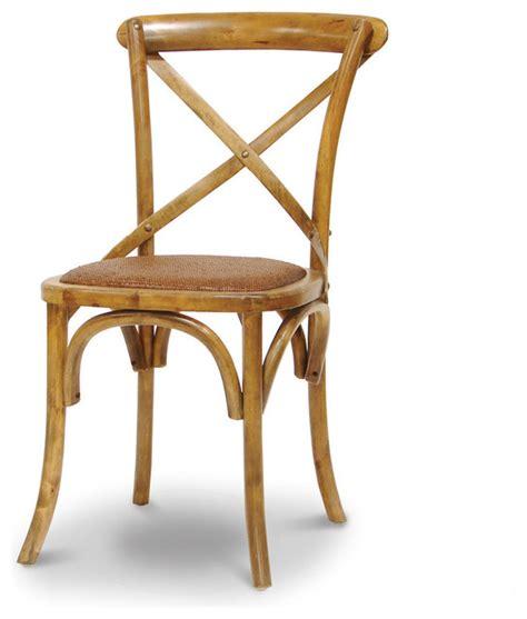 crossings side chair antique oak tropical dining