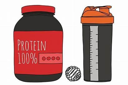 Protein Shaker Clipart Powder Shake Water Put