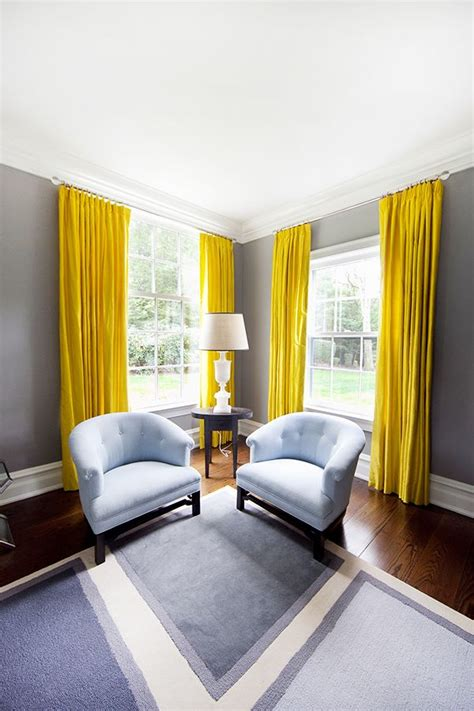 yellow drapes the way to brighten up a room with yellow curtains