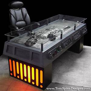 Han Solo Frozen in Carbonite Desk - The Green Head