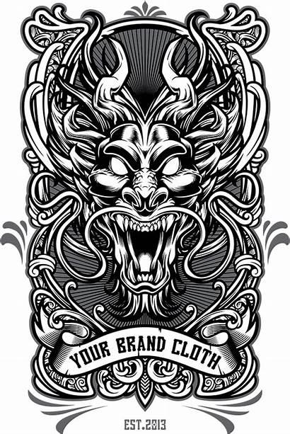 Dragon Tshirt Tattoo Template Graphic Behance Tattoos