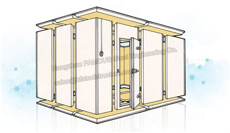 chambre froide construction walk in freezer insulated panel for cold storage walk in