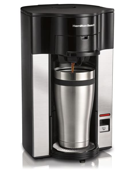 This way you do not need to pour in freshwater for every cup as is the case with most coffee makers. Amazon.com: Hamilton Beach Stay or Go Personal Cup Pod Coffee Maker 49990Z: Single Serve Brewing ...