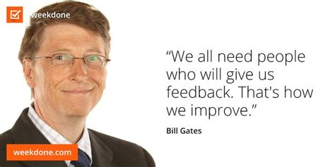 Bill Gates gets it. #feedback #motivational #quotes #bill ...