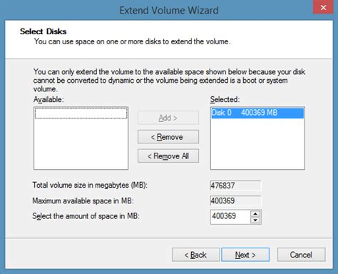 how to extend system partition in windows 10 8 1