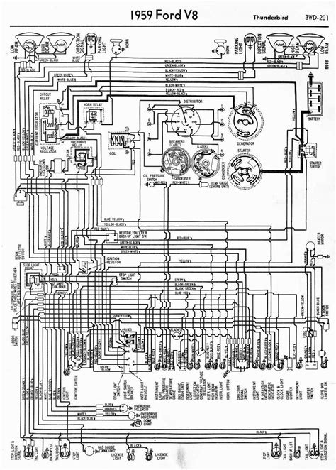 1964 Thunderbird Fuse Box Diagram by Wiring Diagrams Of 1959 Ford V8 Thunderbird Auto Wiring