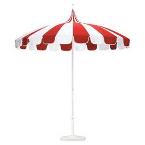 california umbrella pagoda 8 5 ft striped sunbrella patio
