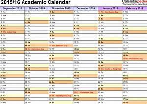 academic calendars 2015 2016 as free printable pdf templates With 2015 16 academic calendar template