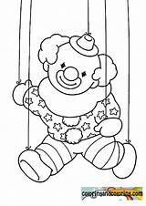 Coloring Puppet Pages Clown Nights Five Master Freddys Halloween Template Library Clipart Popular Coloringhome sketch template