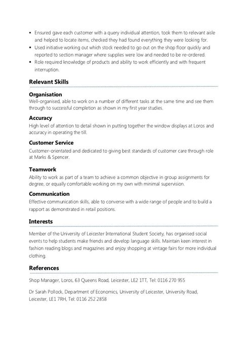 How To Make Cv For Sle by Student Part Time Resume Better Opinion Baseball Cv