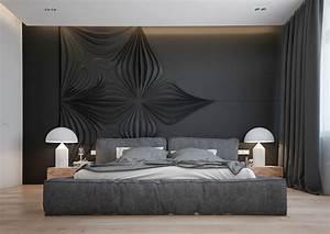 Schlafzimmer Mit Polsterbett : gro z giges schlafzimmer in anthrazit mit polsterbett bed design pinterest polsterbett ~ Sanjose-hotels-ca.com Haus und Dekorationen