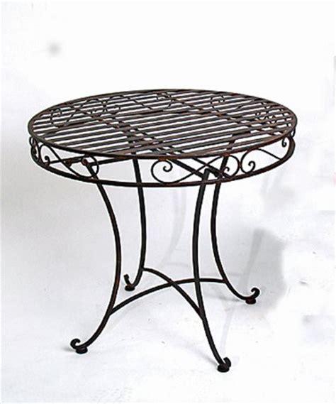 Tisch Rund Metall by Tisch Quot Roma Quot Gartentisch Metall Rund H 75cm