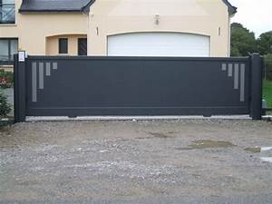 Portail Alu 4m : portail coulissant pas cher 4m avec portail alu coulissant ~ Voncanada.com Idées de Décoration