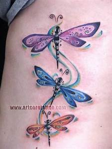 Colorful Dragonfly Tattoo Ideas and Colorful Dragonfly ...
