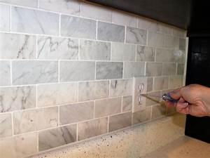 How to Install a Marble Tile Backsplash HGTV