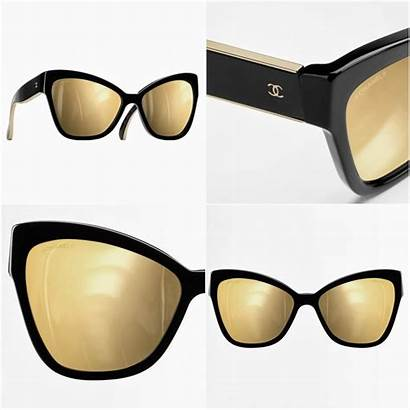 Chanel Sunglasses Eye Cat Gold Mind Collect