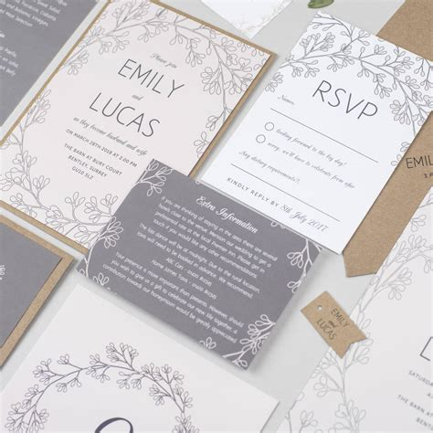 secret garden wedding invitation by pear paper co