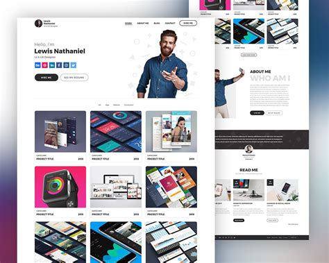 graphic design portfolio websites graphic designer portfolio website template psd psd