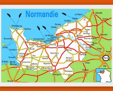 Carte De Normandie Detaillee by Carte Normandie Carte Du Monde