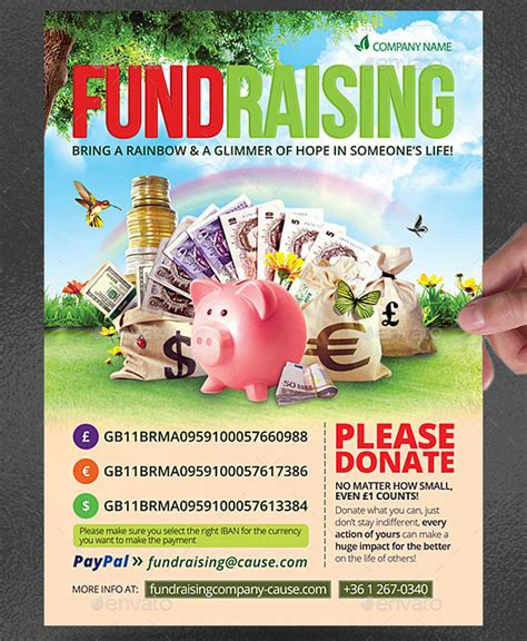 fundraiser flyer templates psd eps ai word