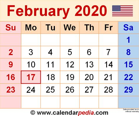 february calendars word excel