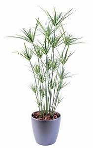 Fausse Plante Verte : plante artificielle papyrus ornemental plastique en pot int rieur ext rieur h 110cm vert ~ Teatrodelosmanantiales.com Idées de Décoration