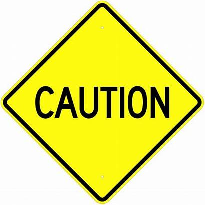 Caution Sign Signs Warning Road Clipart Proceed