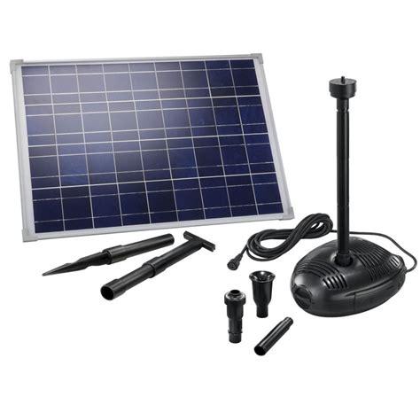kit pompe solaire bassin ou fontaine genova 35w sur