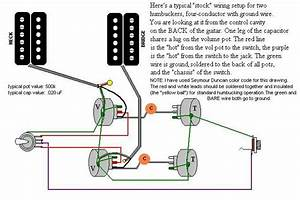 4 Conductor Humbucker Wiring Diagram