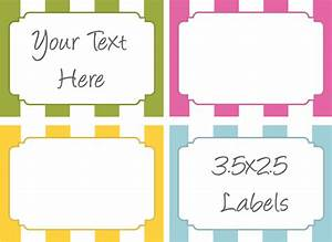 6 best images of printable food labels template free With food label template word