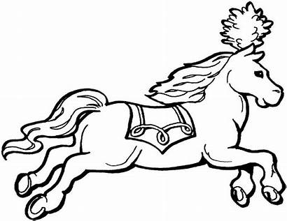 Circus Coloring Animals Pages Printable Horse March