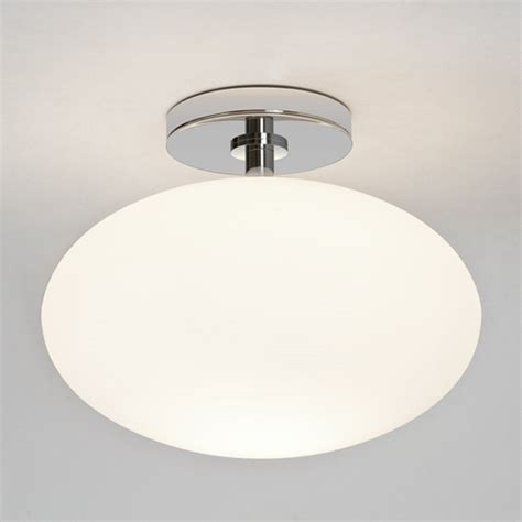 contemporary ip44 bathroom ceiling light opal glass shade