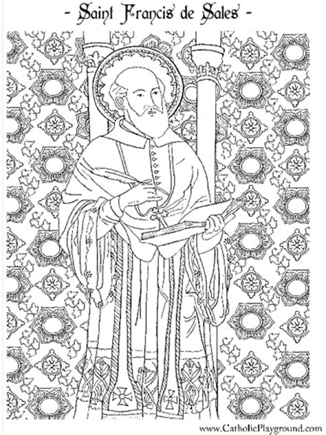 saint francis de sales coloring page january
