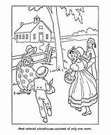 Coloring Pages American Early Children Colonial Prairie Pioneer America Printables Sheets Laura Ingalls Usa Wilder Going Books Christmas Colouring Woods sketch template