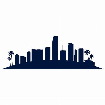 Skyline Miami Silhouette Clipart Vegas Clip Pittsburgh